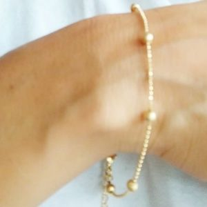 NEW 3 FOR 35 DAINTY GOLD STATEMENT BRACELET